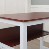 110cm Wooden Computer Desk with Bookshelf Dark Walnut  | 56599680