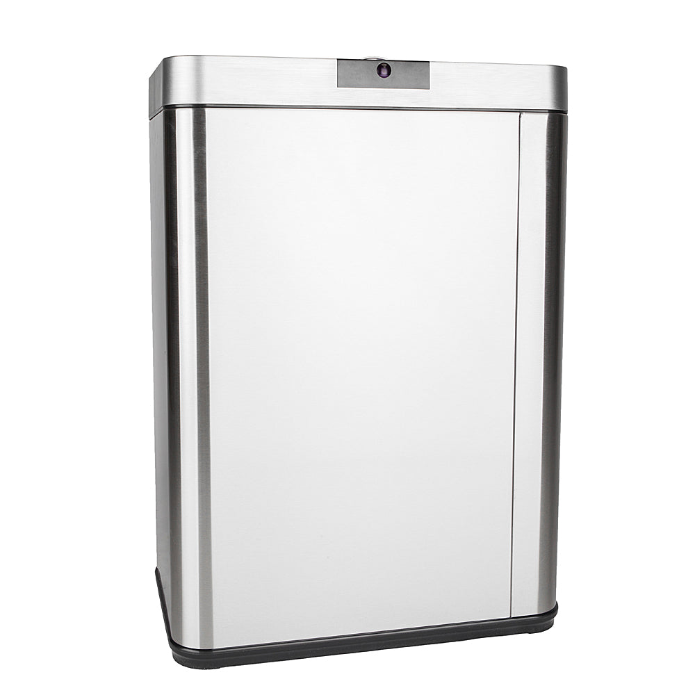 13Gallon/50L Inductive Touchless Full-automatic Fingerprint-resistant Garbage Trash Can Silver | 32243907