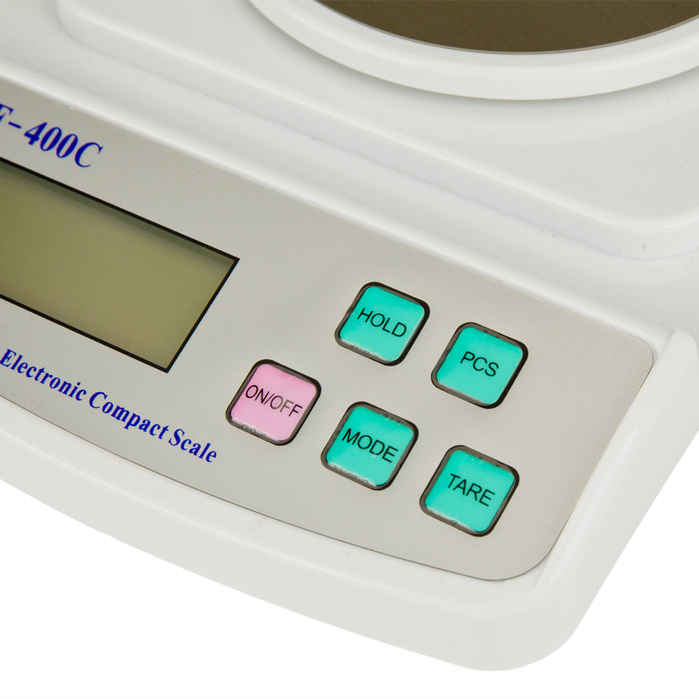 SF-400C 500g/0.01g Portable Electronic Laboratory Scale with Windshield Gray & White  | 14776950