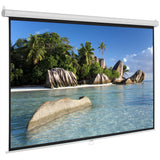 84 Inch 16:9 Manual Pull Down Projector Projection Screen Home Theater Movie | 63798114