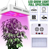 1200W Dual Chips 380-730nm Full Light Spectrum LED Plant Growth Lamp White | 24835958
