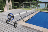 18 Ft Aluminum Inground Solar Cover Swimming Pool Cover Reel Blue  | 59351530