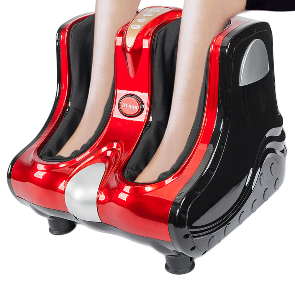 Smart Kneading Rolling Vibration Shiatsu Foot Calf Leg Massager 110V US Plug Red | 74084223