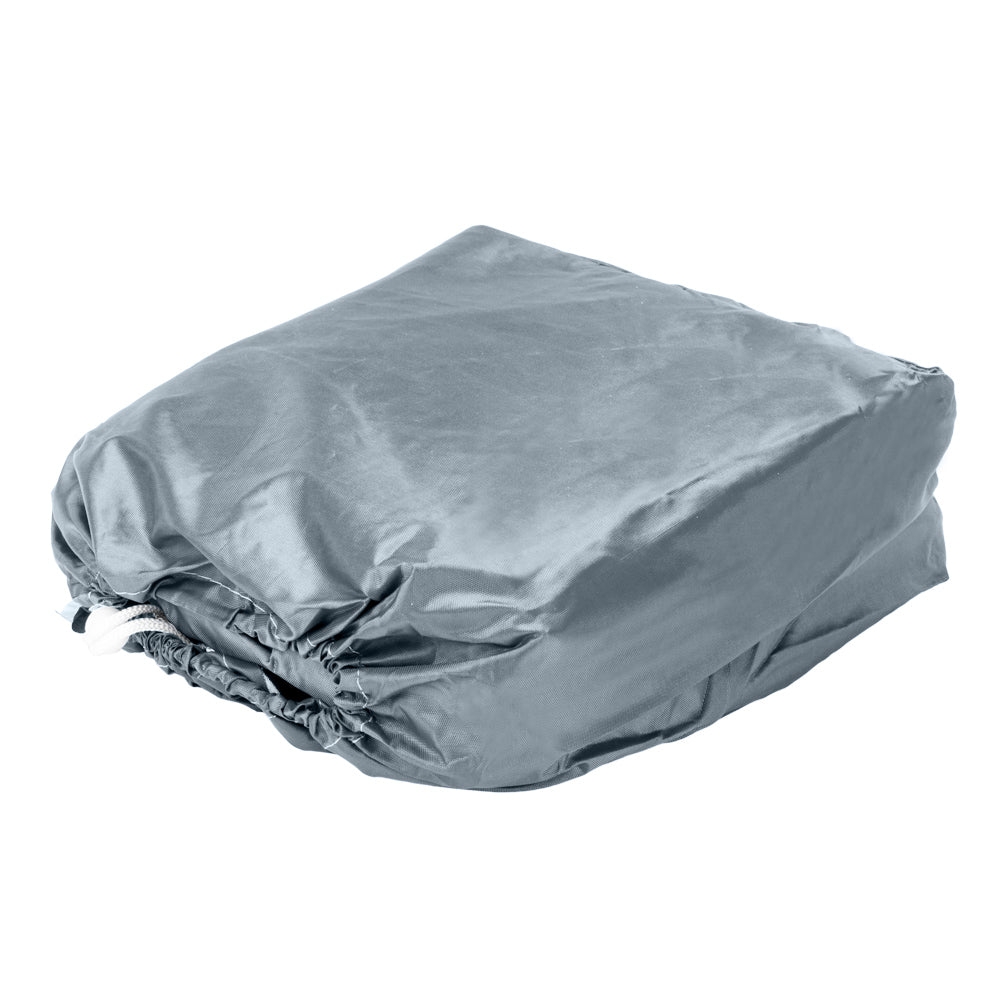 17-19ft 210D Oxford Fabric High Quality Waterproof Boat Cover with Storage Bag Gray | 77724294