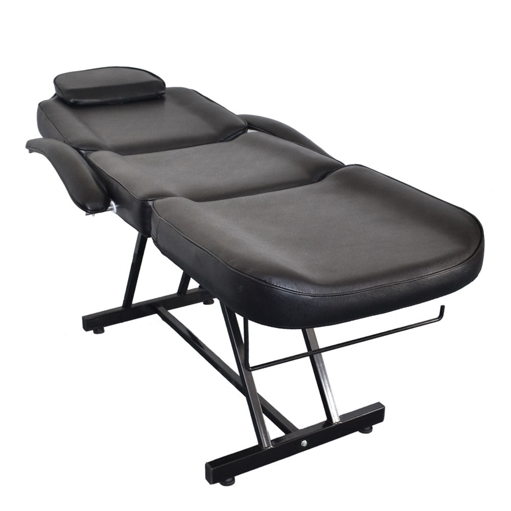 015A Beauty Salon Bed with Stool Black | 73443140
