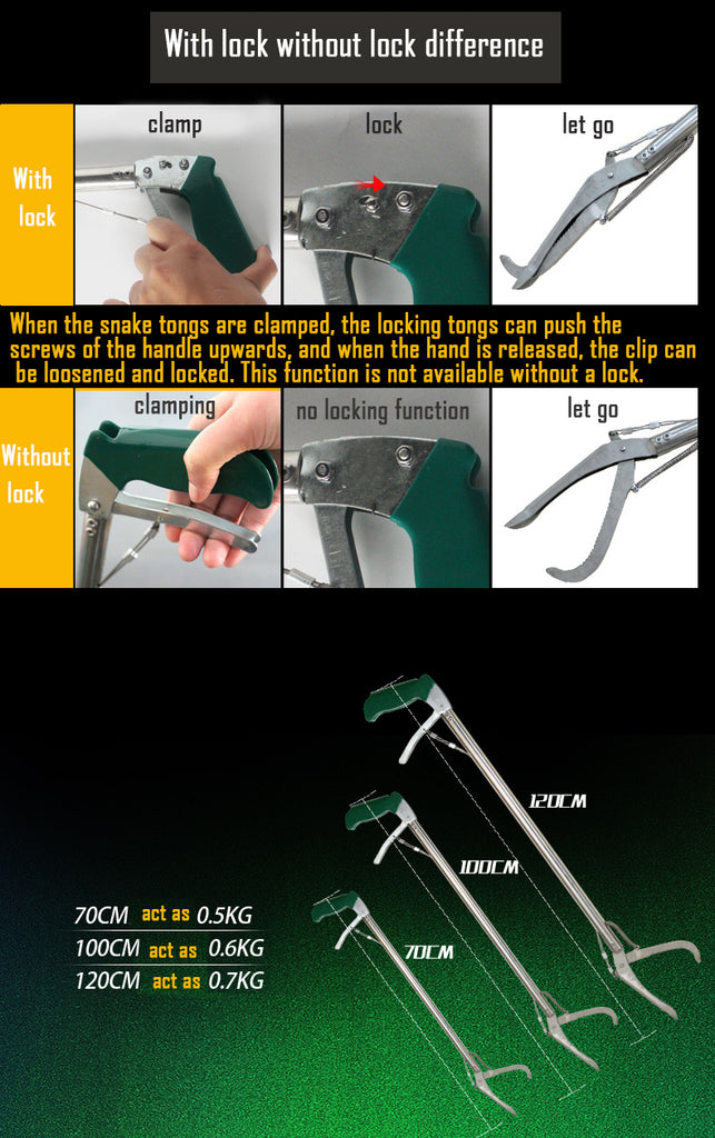 Aluminum Alloy Snake Clamp with Self-lock Function (120cm) Silver & Green | 76453129