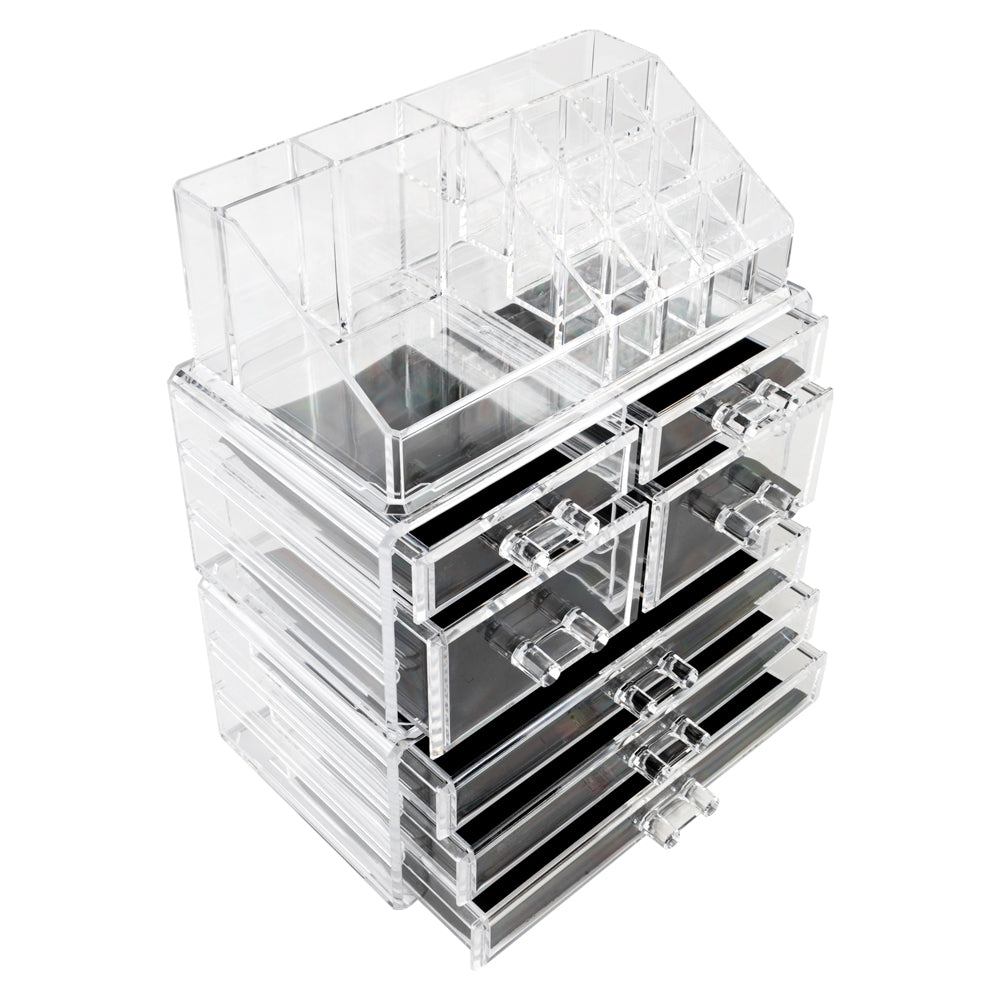 Acrylic Cosmetics Storage Rack with 7 Drawers Transparent  | 96339504
