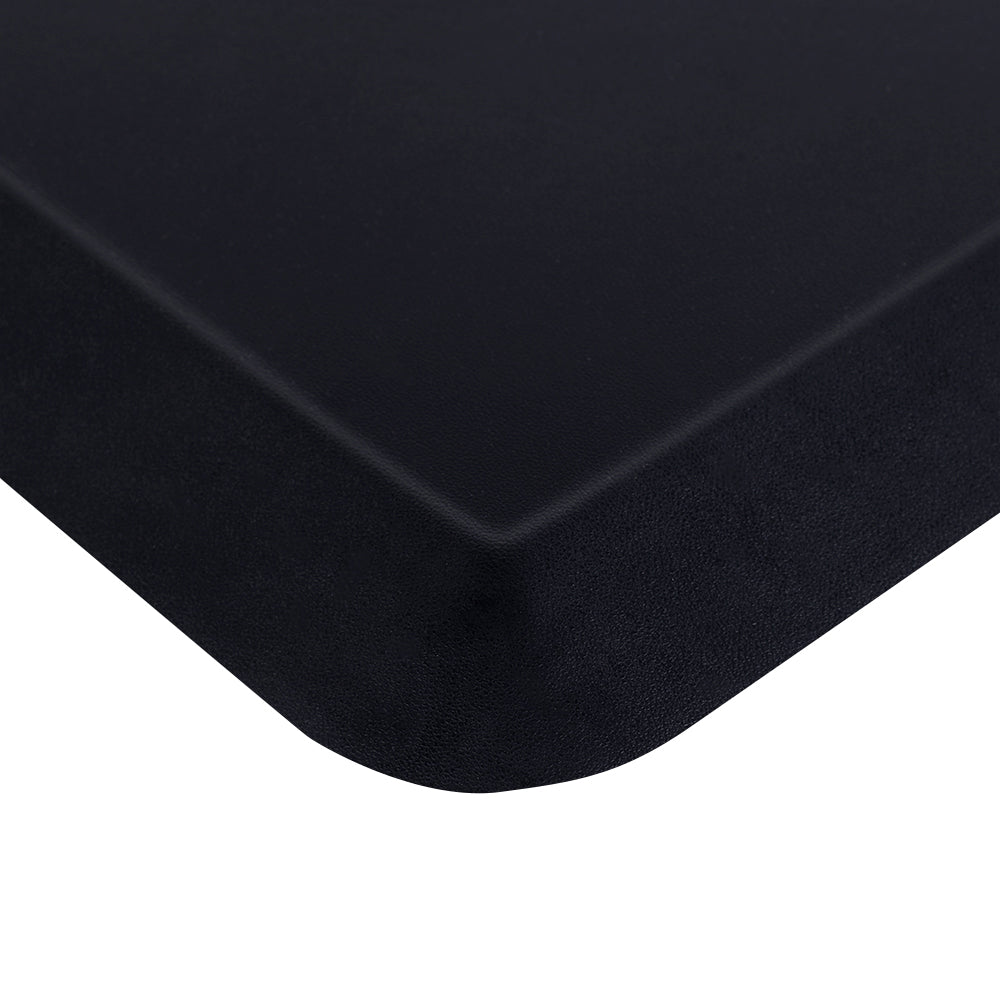 "18"" x 22"" x 3/4"" Beauty Salon Rectangle Anti-fatigue Mat Salon Mat Black with Handle 