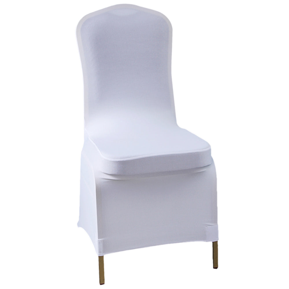 100 pcs 95% Polyester Fiber & 5% Spandex Chair Covers White | 86696454