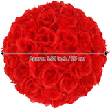 10pcs 25CM Flower Balls Wedding Decoration Red | 07053729