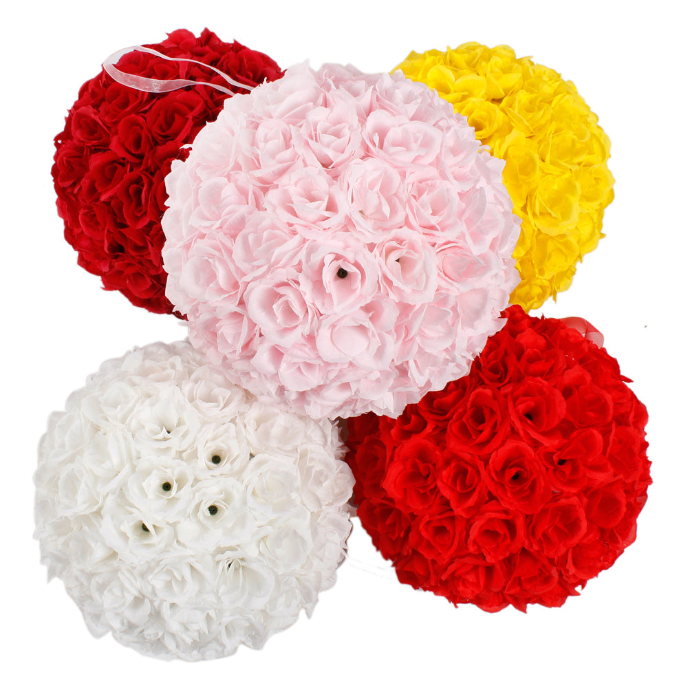 10pcs 25CM Flower Balls Wedding Decoration Wine Red | 14245339