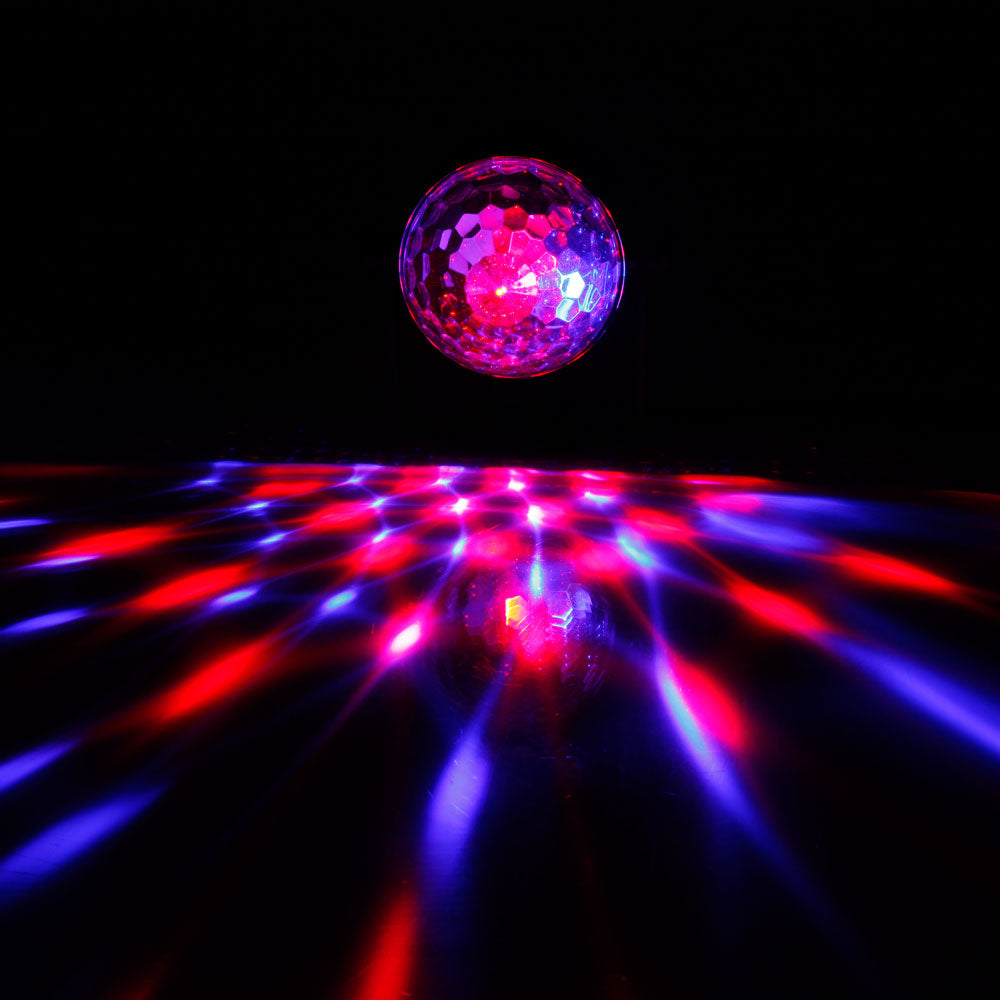 ALIGHT 3W RGB LED Remote Control / Sound Control / Auto Mini Rotating Ball Stage Bar Party Lighting *2 | 40572370