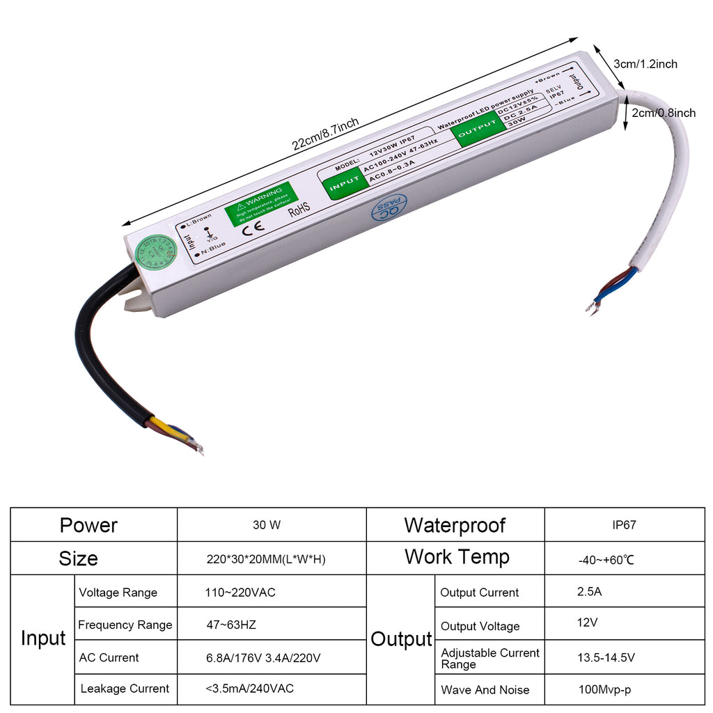 12V 30W FS-30-12 Waterproof Switching Power Supply | 89060809