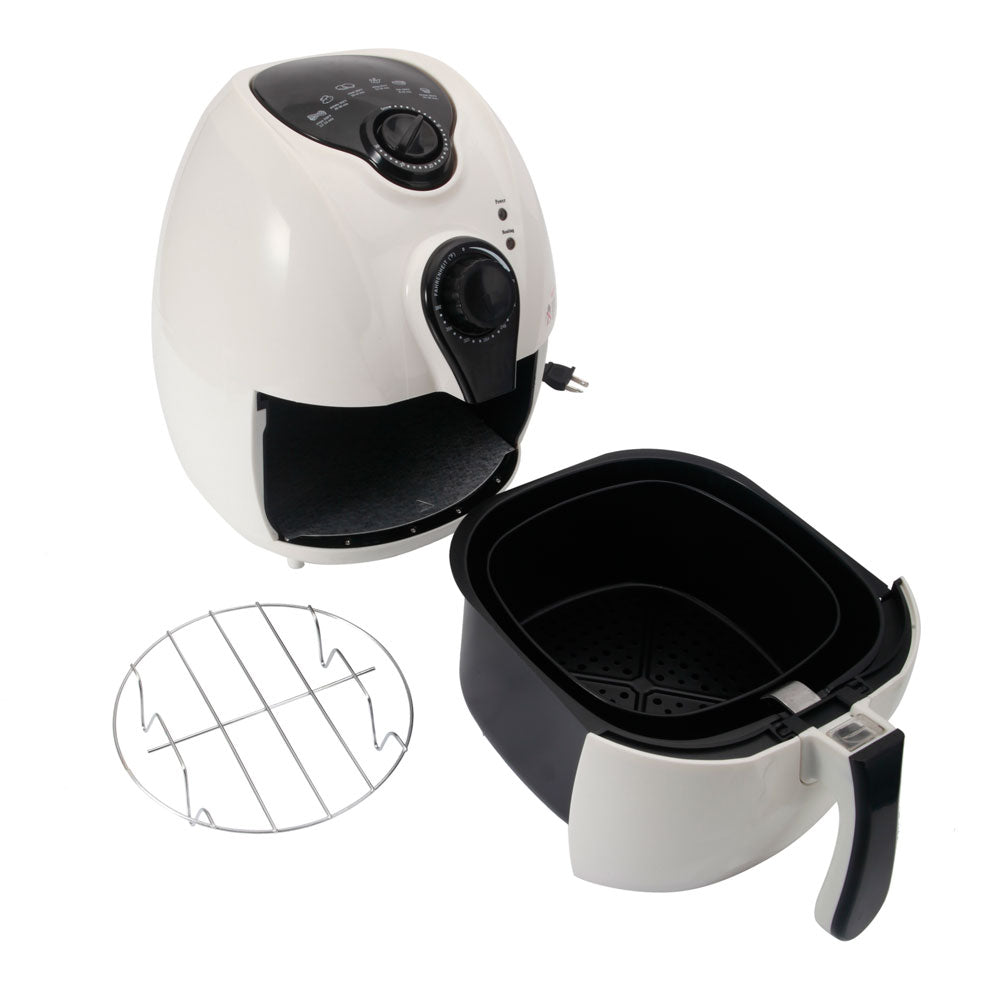 1500W Smart Multifunctional Electric Air Fryer with Adjustable Temperature & Time White | 23852742