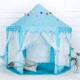 1.4m Diameter 210T Pongee Princess Castle Play House Large Outdoor Kids Play Tent for Girls Blue | 50522909