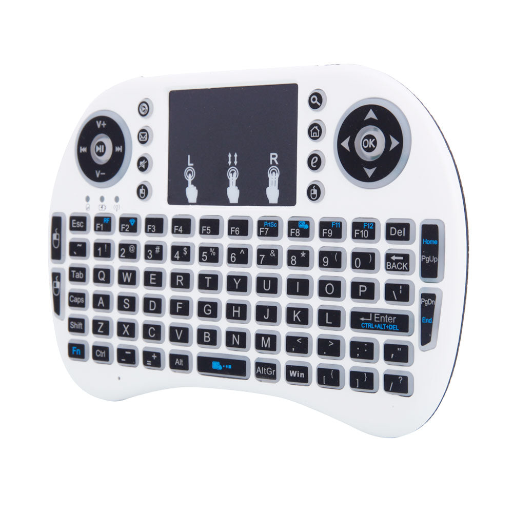 MINI i8 2.4GHz 3-color Backlight Wireless Keyboard with Touchpad White | 13490294