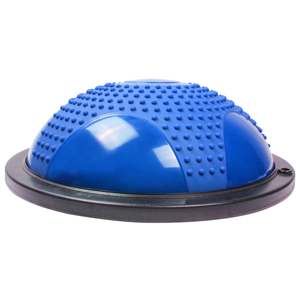 Gym Household Balanced Hemisphere Yoga Ball with Massage Granule Blue | 16654661