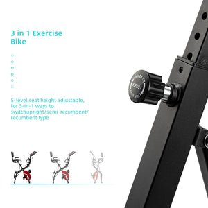 3-in-1 Folding Upright Bike for Indoor Exercise | 32075452