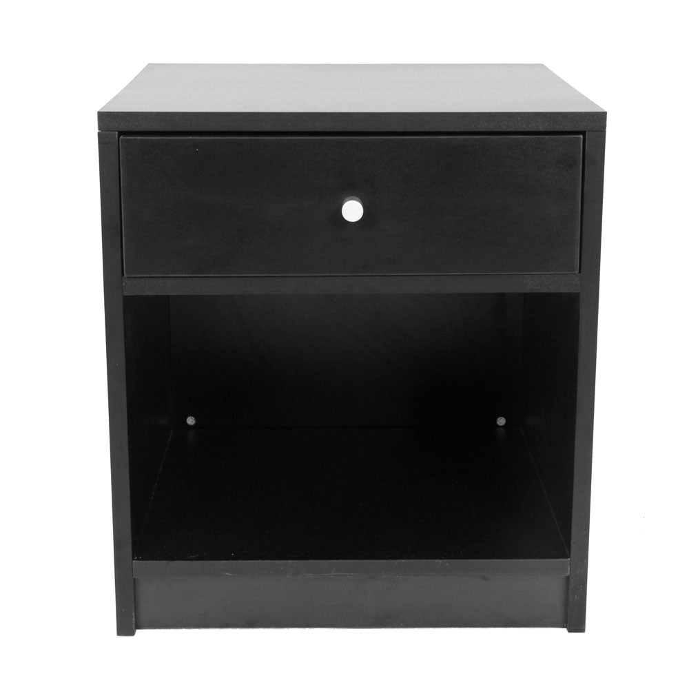 1pc Drawer Round-shaped Handle Night Stand Black | 55706476