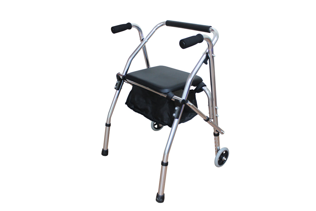 Aluminum Tube Walker With Seat Cushion 4202 Silver | 02549374