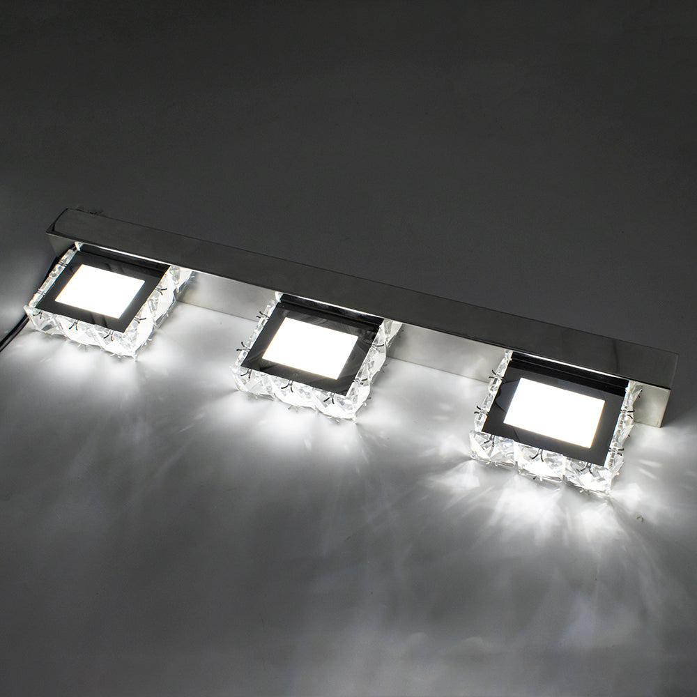 12W ZC001211 Four Lights Crystal Surface Bathroom Bedroom Lamp Warm White Light Silver | 08403417