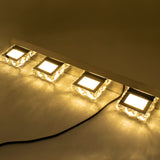 9W ZC001209 Three Lights Crystal Surface Bathroom Bedroom Lamp Warm White Light Silver | 35750118
