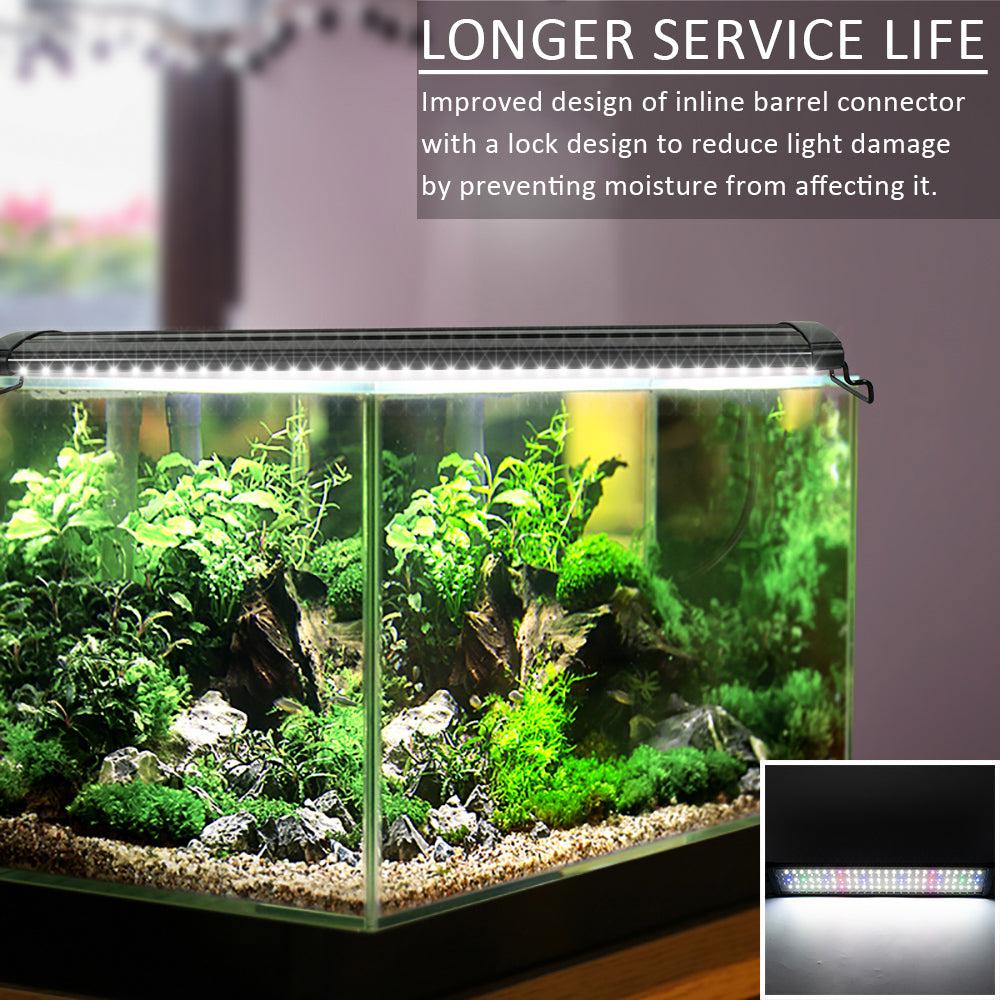 18W 78LED Full Spectrum Water Grass Lamp 23.6inch Black US Standard ZC001220 (Suitable For 23.6-31.49inch Long Aquarium)  | 94031468