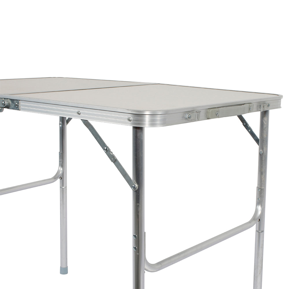 90 x 60 x 70cm Home Use Aluminum Alloy Folding Table White  | 71267885