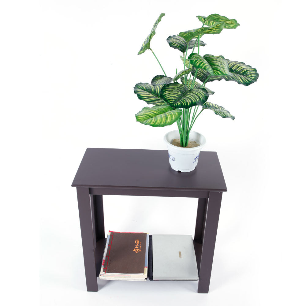 Simple Two-layer Bedside Cabinet Coffee Table Brown | 02670311