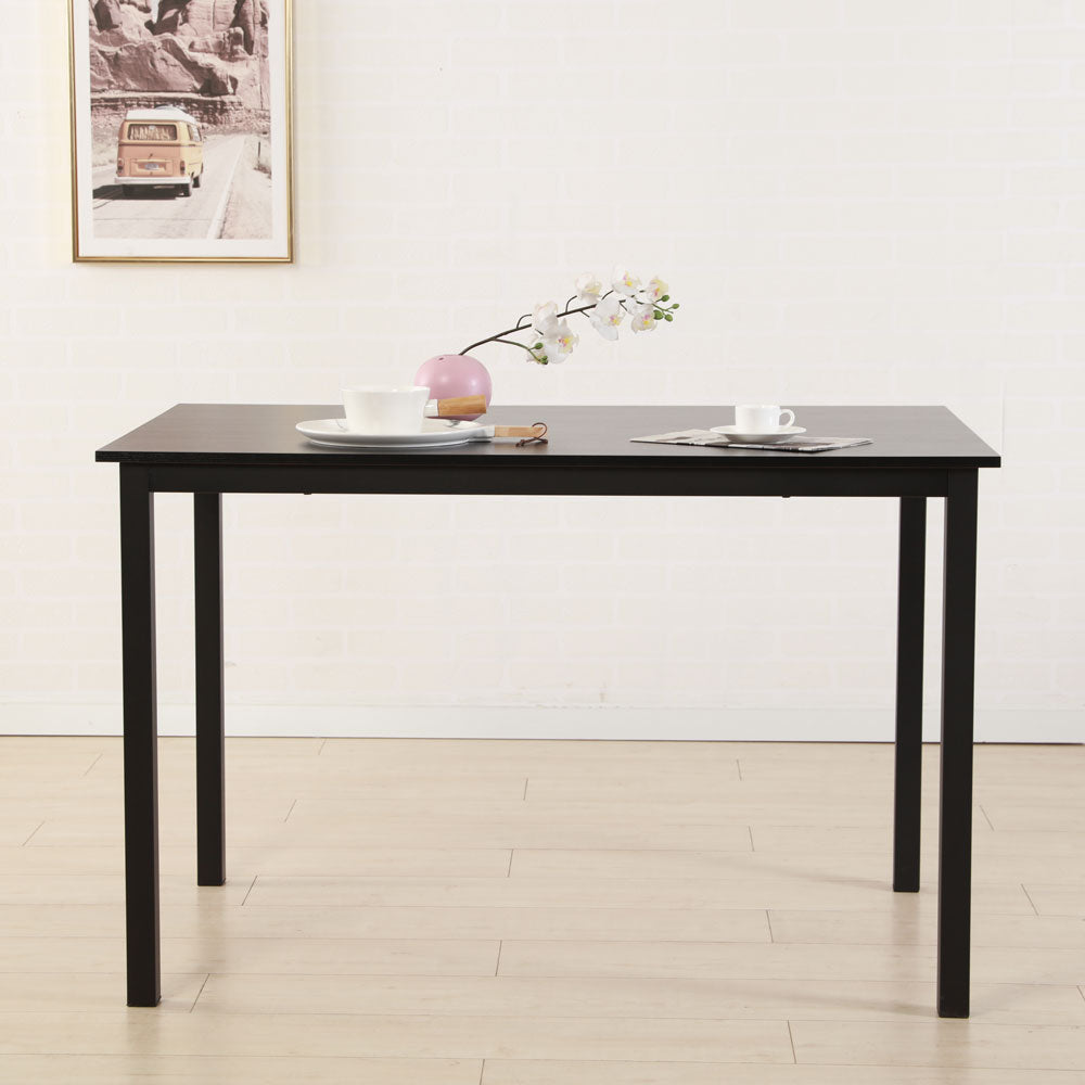 Simplistic Iron Frame Dining Table Black | 16285036