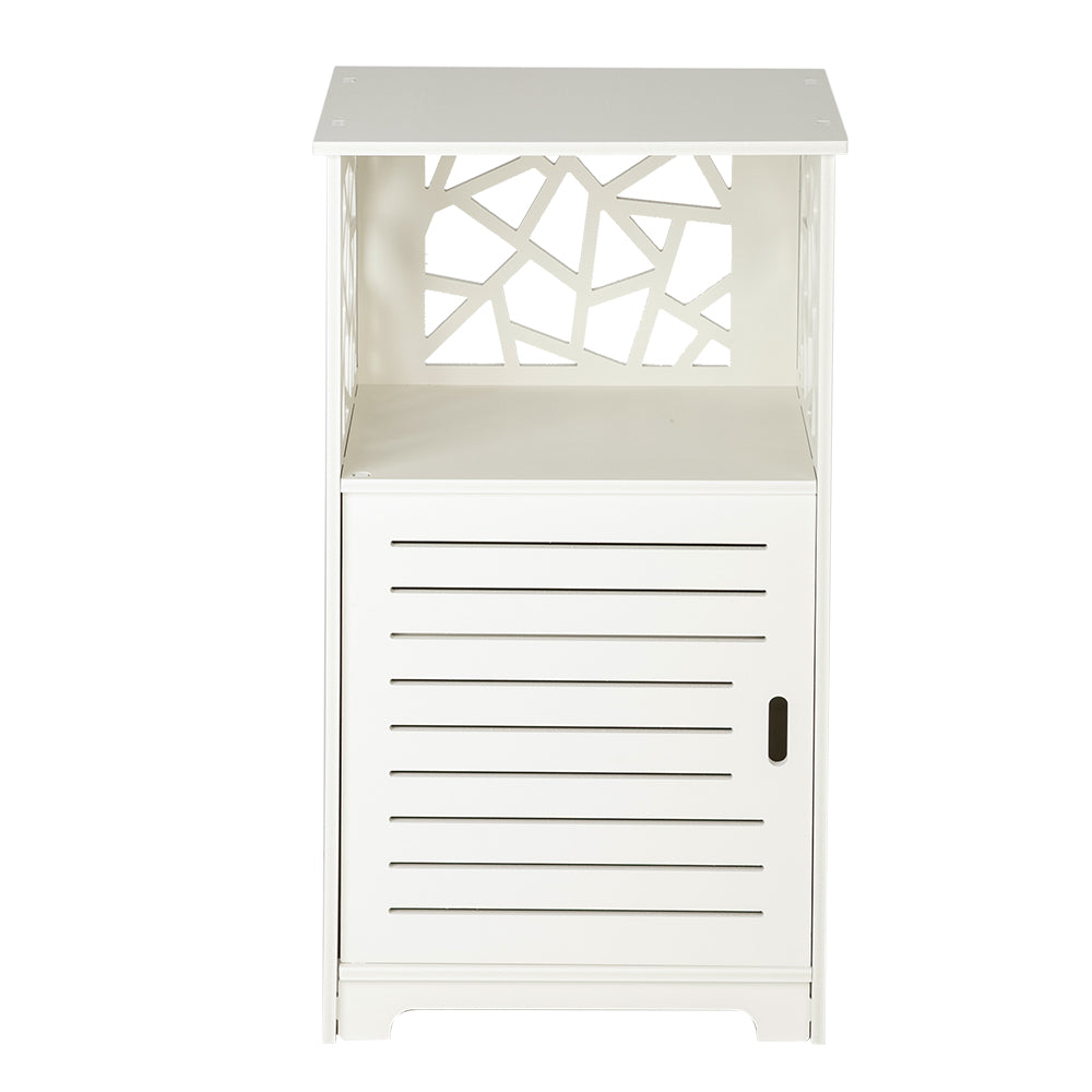 Single Door With Compartment 70cm high Bedside Table PVC (41 x 30 x 70) cm | 51365811
