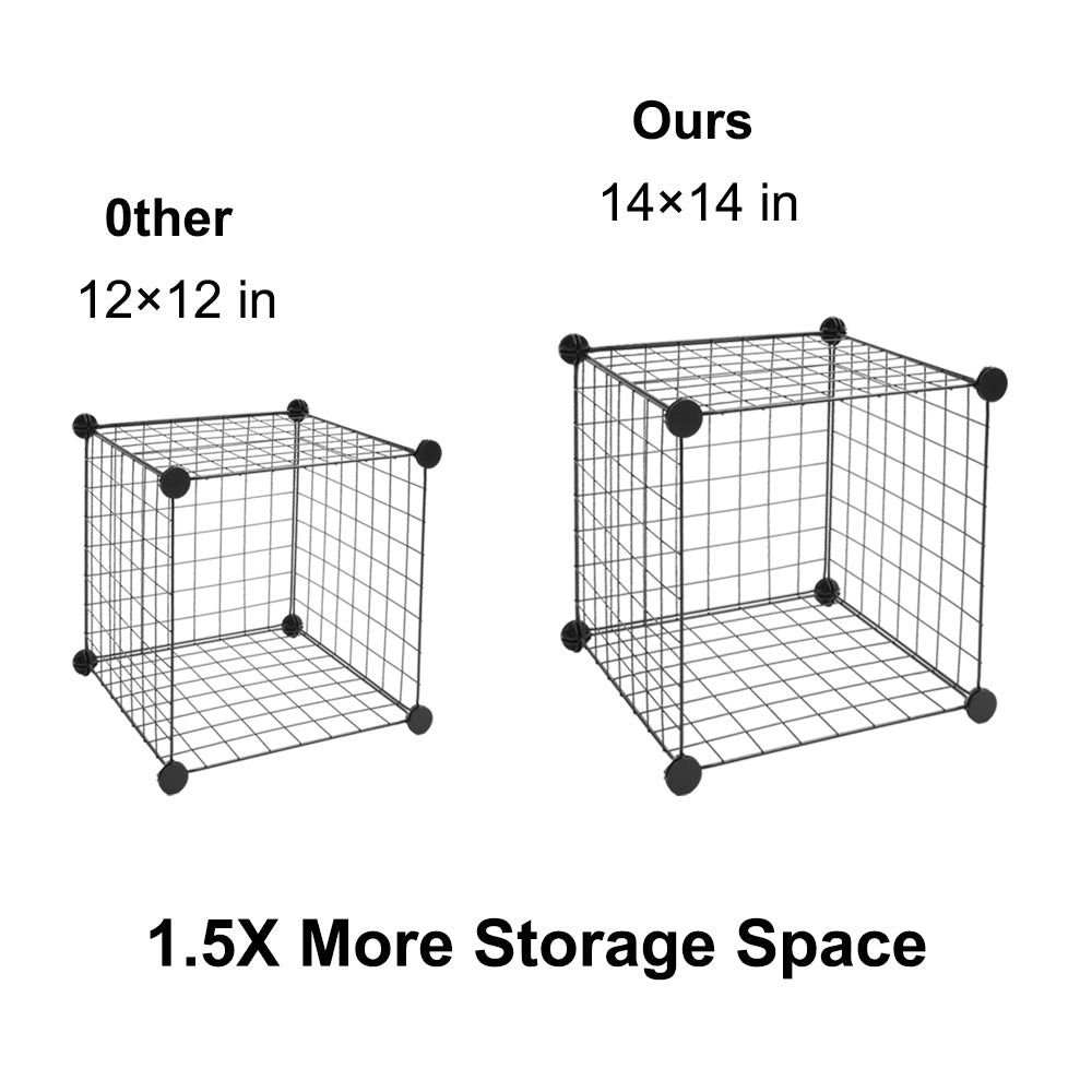 16-Cube Organizer Cube Storage Storage Shelves Wire Cube Storage Origami Shelves Metal Grid Multifunction Shelving Unit Modular Cubbies Organizer Bookcase | 22202561