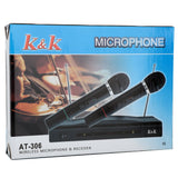 AT-306 Wireless Dual Handheld Microphone KTV Bar Stage Equipment Black | 57507369