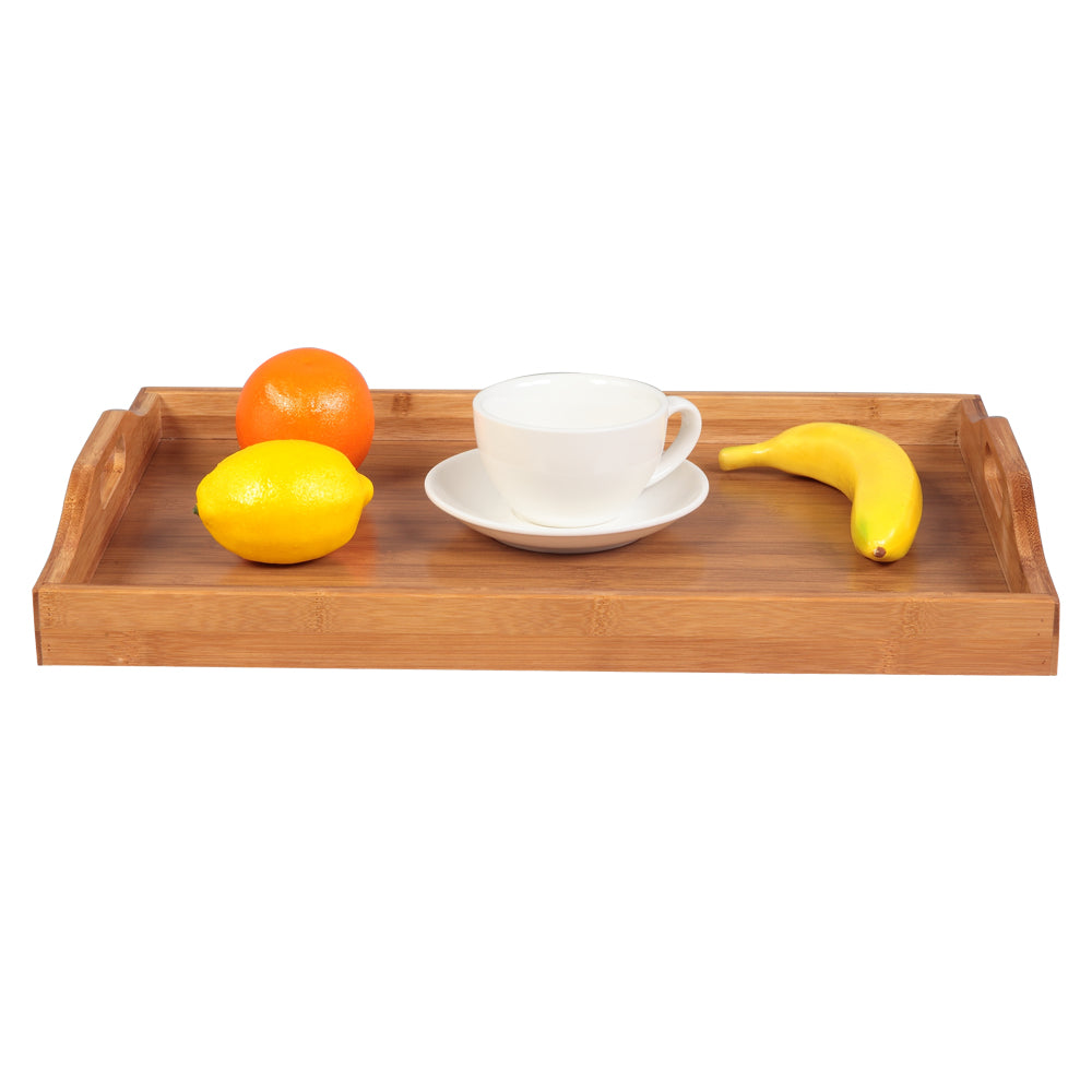 [50 X 35 X 6.3] cm Tray With Handles Wood Color | 28982411