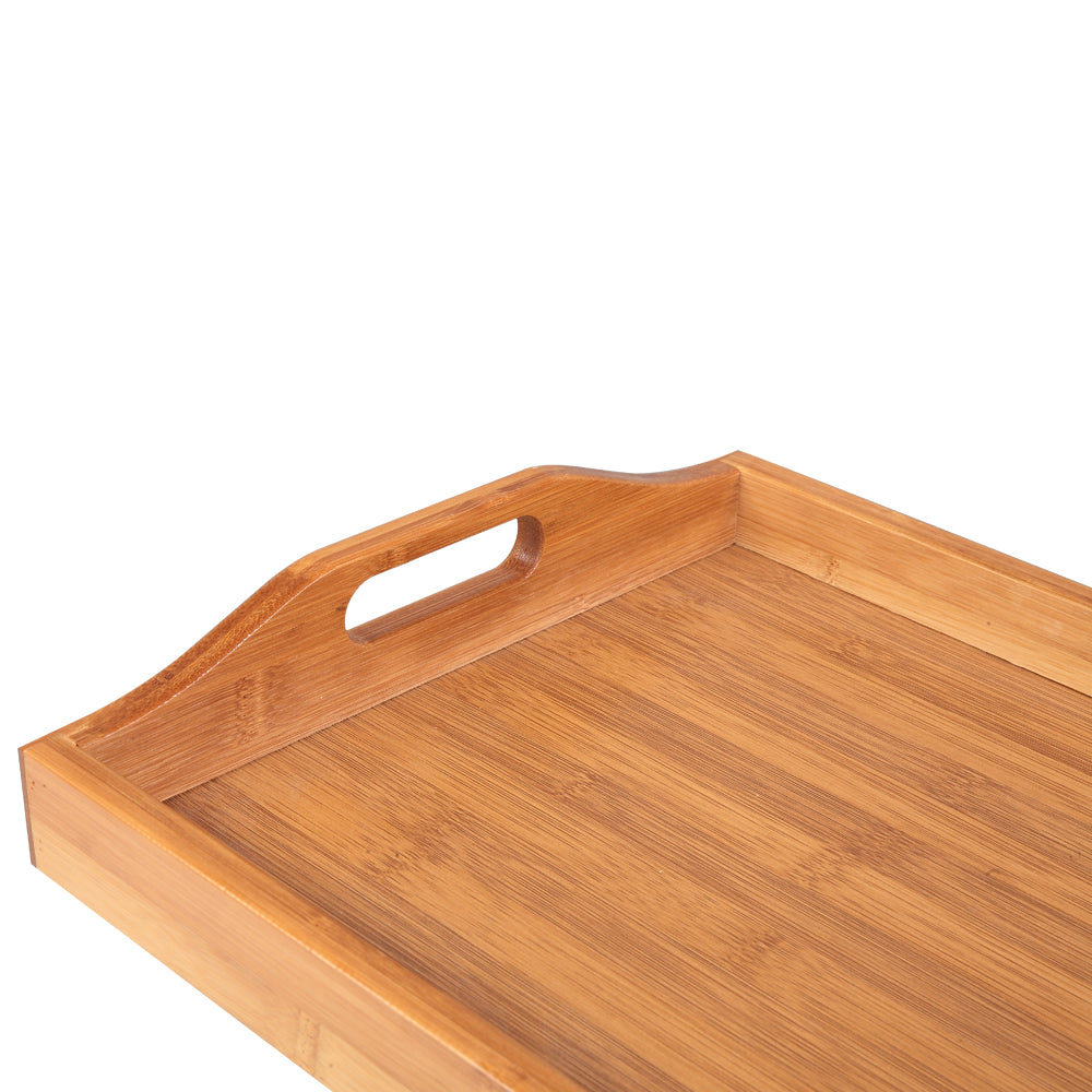 Tray With Handles, Three Piece Suit, Wood Color | 81457215
