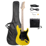ST Stylish Electric Guitar with Black Pickguard Yellow | 22468377
