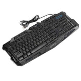 A878 114-Key LED Backlit Wired USB Gaming Keyboard with Cracking Pattern Black | 15522621