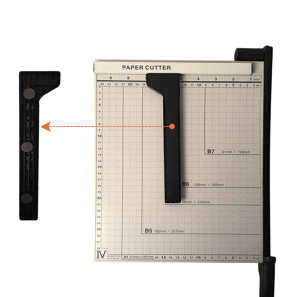 "12"" Metal Base Paper Cutter Trimmer Scrap Booking Desktop Sheet A4 Guillotine White & Black  