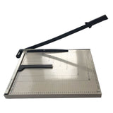 "18"" Metal Base Paper Cutter Trimmer Scrap Booking Desktop Sheet A3 Guillotine White & Black 