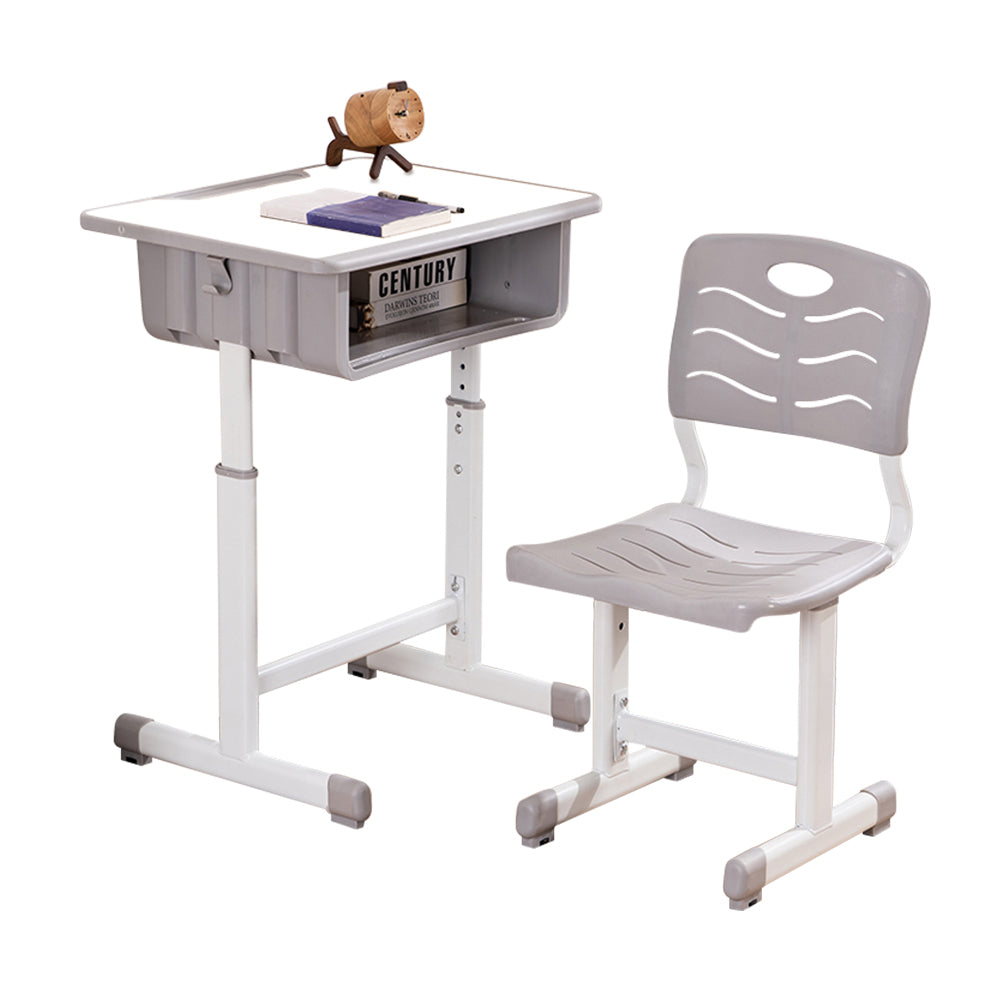 Adjustable Students Children Desk and Chairs Set White | 75094388