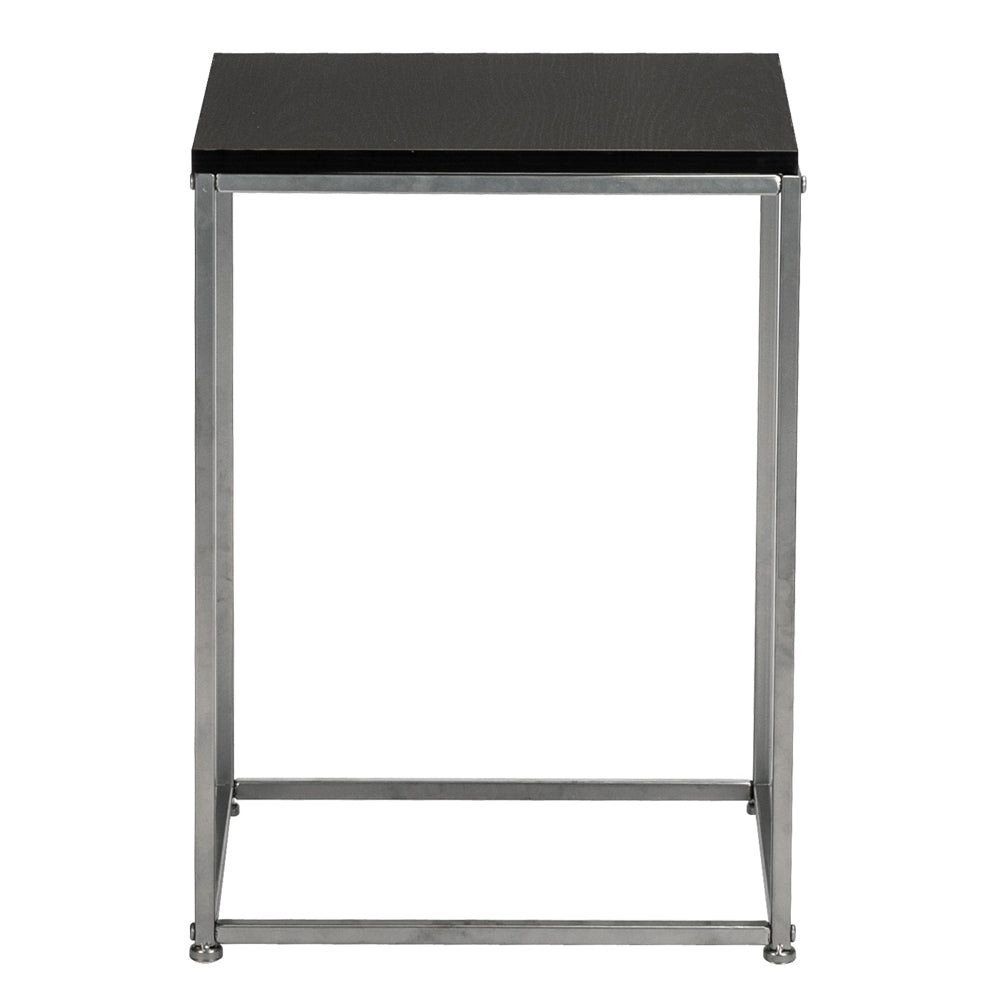 Artisasset Black MDF Countertops Grey Wrought Iron Base Single Layer Snack Table | 82381913