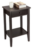 Two-layer Bedside Table Coffee Table with Drawer Coffee | 39688757