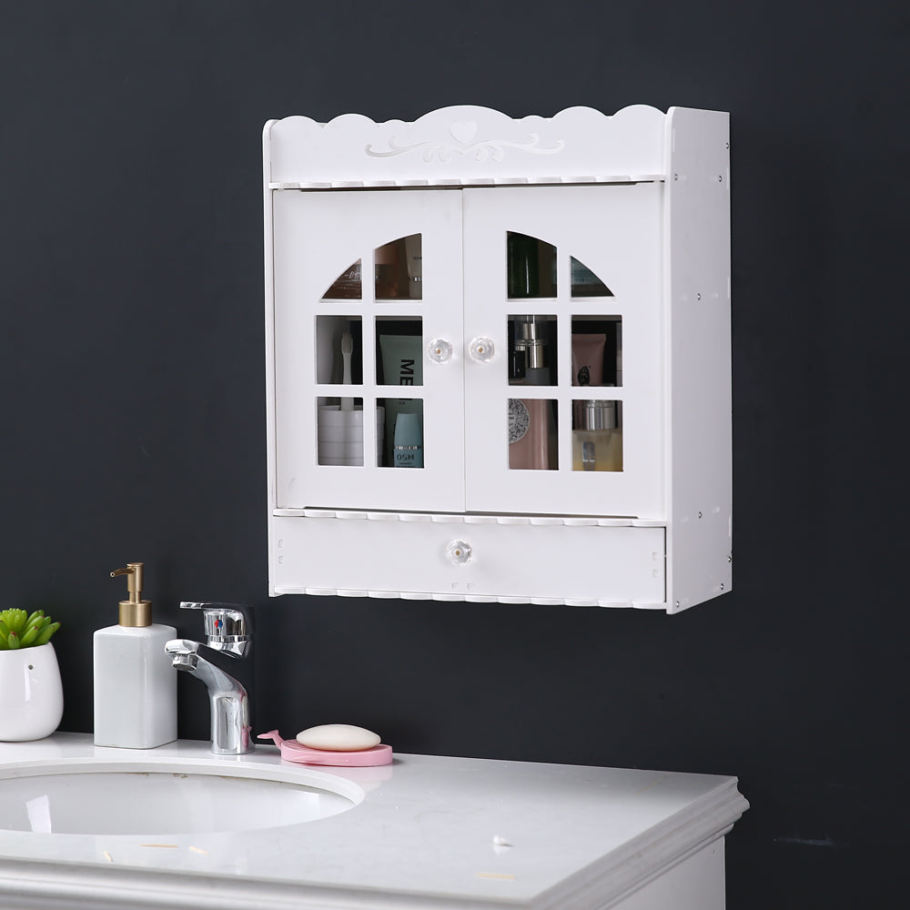 (39 x 17.5 x 44) cm Non-Perforated PVC Bathroom Wash Cabinet with Drawer | 60360287