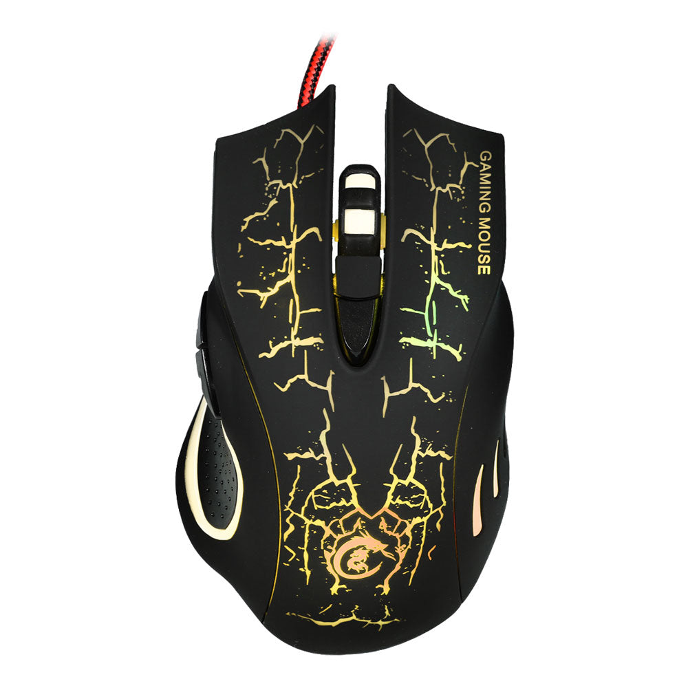 A888 Crack Pattern Wired Mouse Black | 58439208