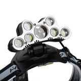 120000LM 6 Modes 9 LED Headlamp USB Rechargeable Strong Headlamp Set Silver Gray | 35141813