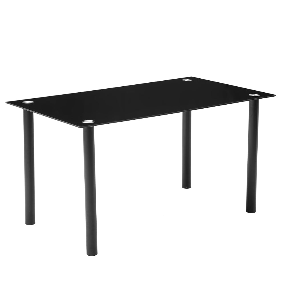 120*70*75CM DA154 Simple Round Tube Table Leg Table Black | 30161686