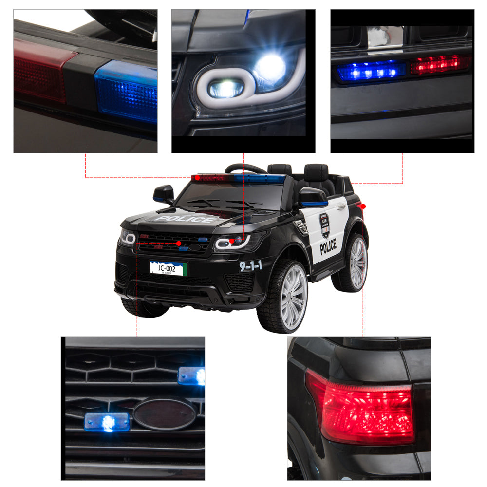 12V Kids Police Ride On Car Electric Cars 2.4G Remote Control, LED Flashing Light, Music & Horn. | 80051466