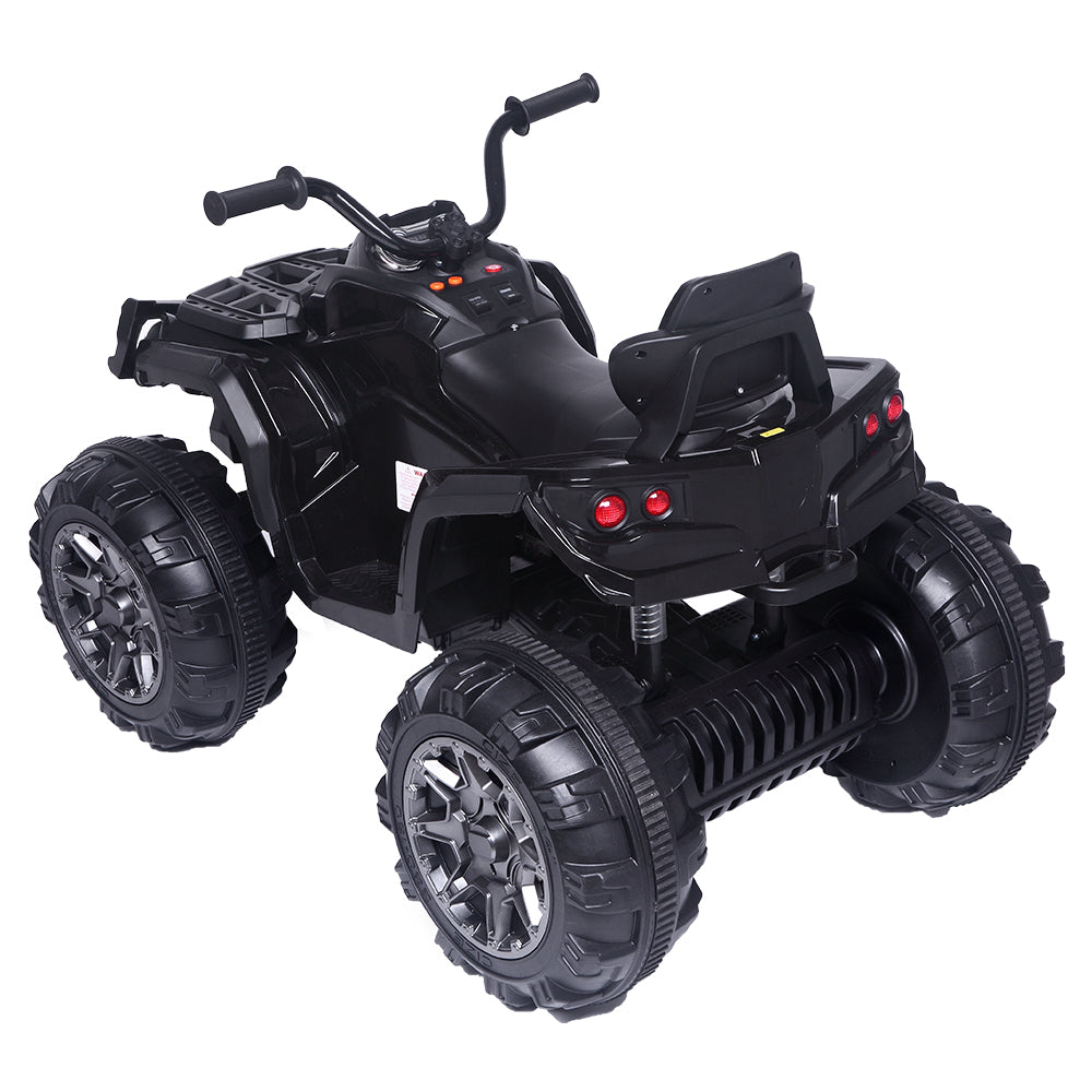 12V Kids Electric 4-Wheeler ATV Quad Ride On Car Toy with 3.7mph Max Speed, Treaded Tires, LED Headlights, AUX Jack, Radio | 05375495
