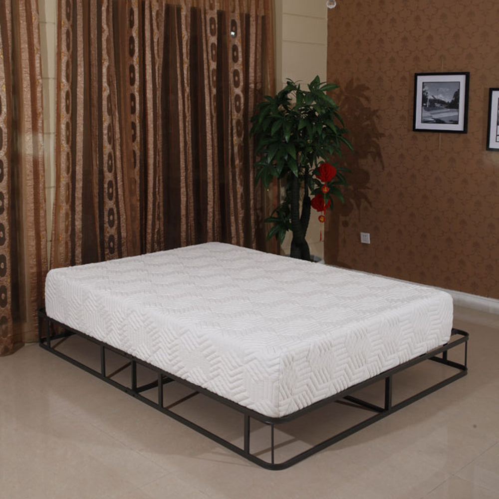 "10"" Three Layers Cool Medium High Softness Cotton Mattress with 2 Pillows (Full Size) White 