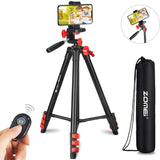 Zomei T80 Portable Tripod with Phone Clip and Bluetooth Remote Control Black Red | 70416320